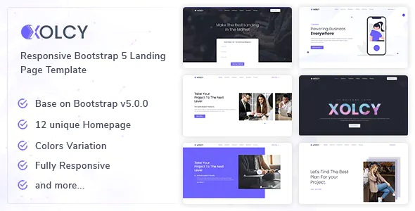 Best Bootstrap5 Creative Landing Page Template
