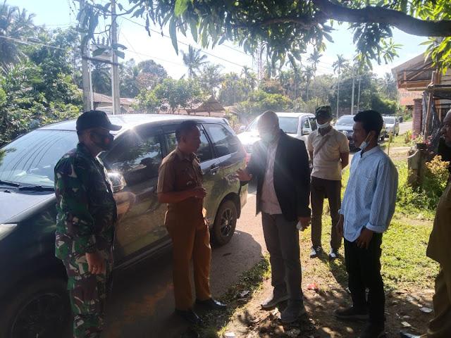 Sering Di Lintasi Kawanan Gajah Liar, Danramil PRG Dampingi Wakil Bupati Tinjau Lokasi