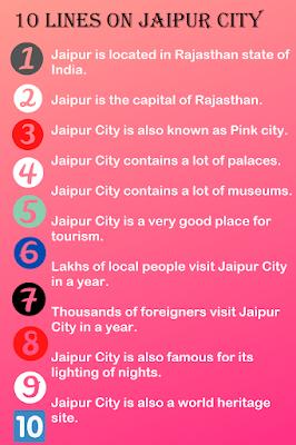 Short Few Lines Essay on Jaipur City
