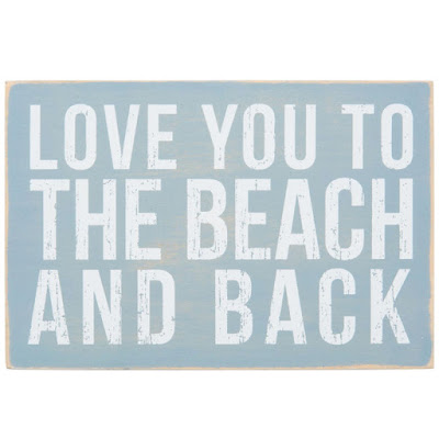 Love you to the Beach and Back Postcard
