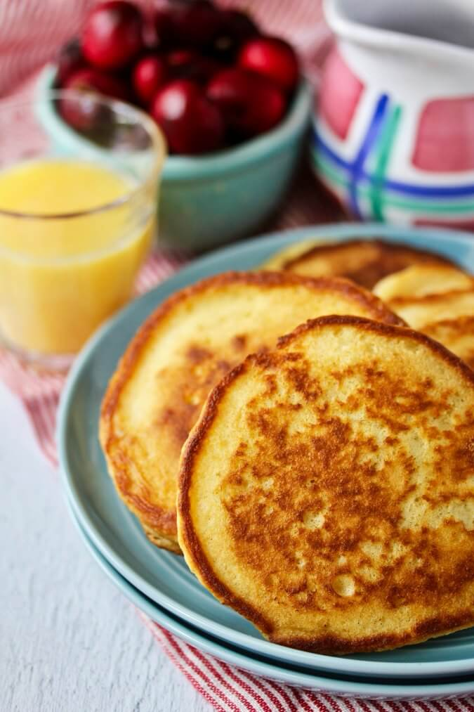 Crispy Sourdough Pancakes with Hibiscus Syrup