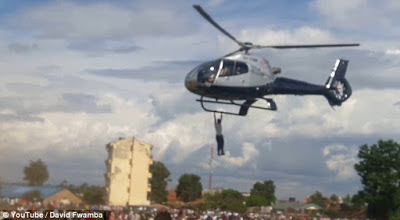 OMG! Man Hangs On To A Helicopter Carrying The Corpse Of Kenyan Businessman