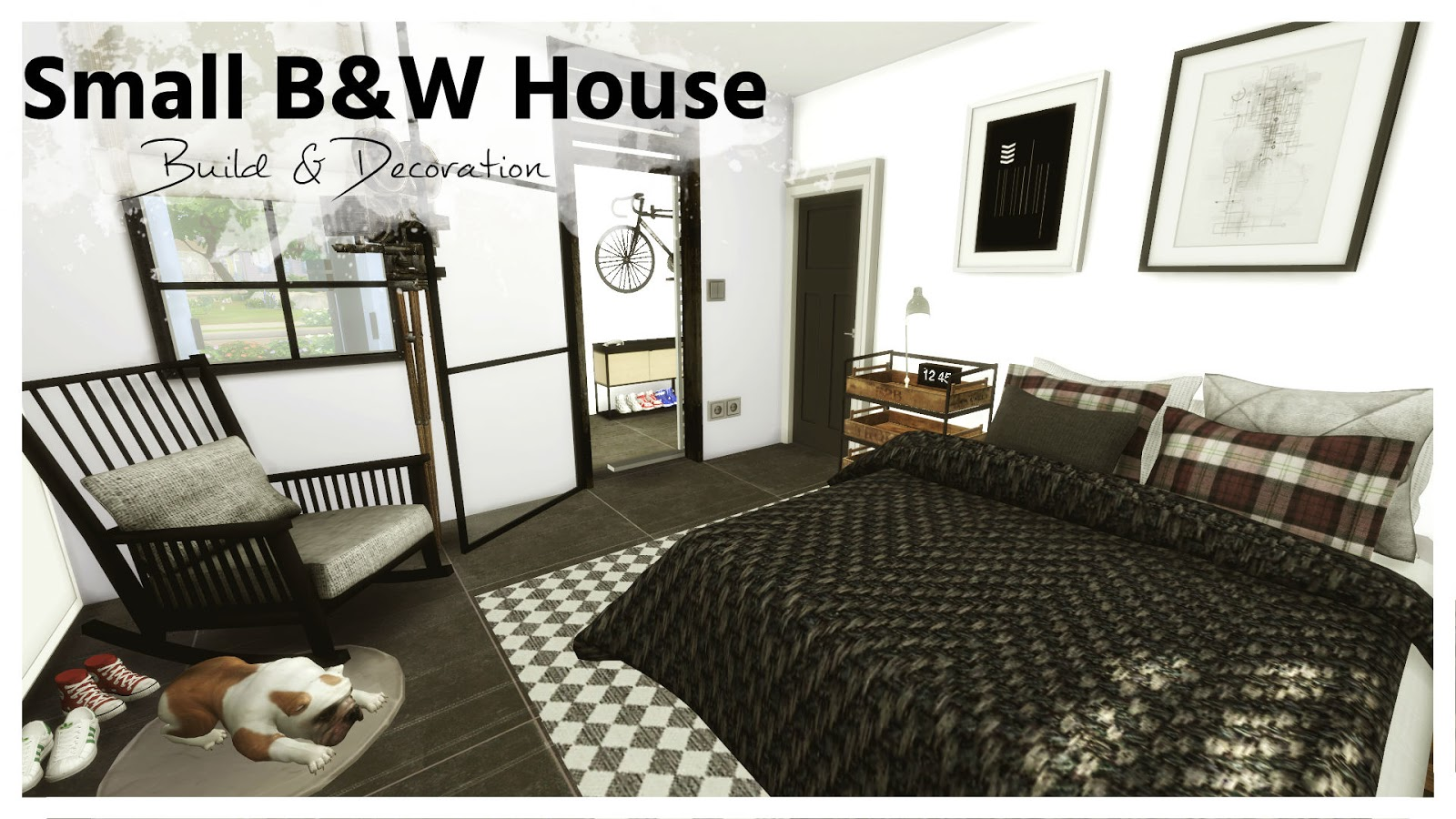 Sims 4 Small Black White House House Mods For Download