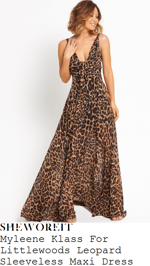myleene-klass-myleene-klass-for-littlewoods-leopard-print-sleeveless-plunge-front-maxi-dress