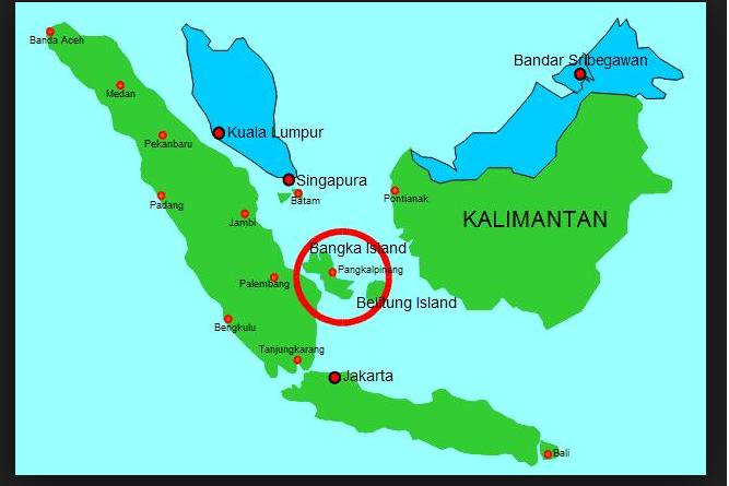 daftar Kota di Bangka Belitung