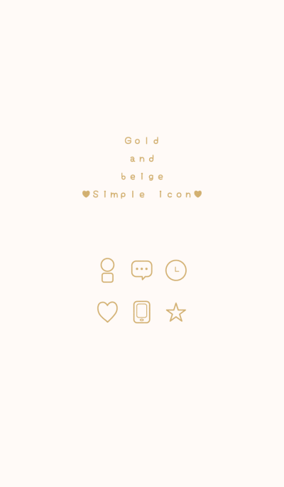 Gold and beige Simple icon