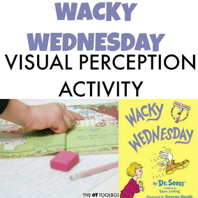 Try this wacky Wednesday visual perception activity to address the skills needed in handwriting.