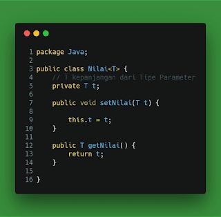 Contoh Generic Class Java Nilai.java