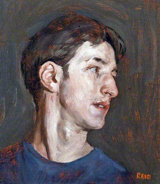 Paul John Reid, Self Portrait, Portraits of Painters, Fine arts, Portraits of painters blog, Paintings of Paul John Reid, Painter  Paul John Reid