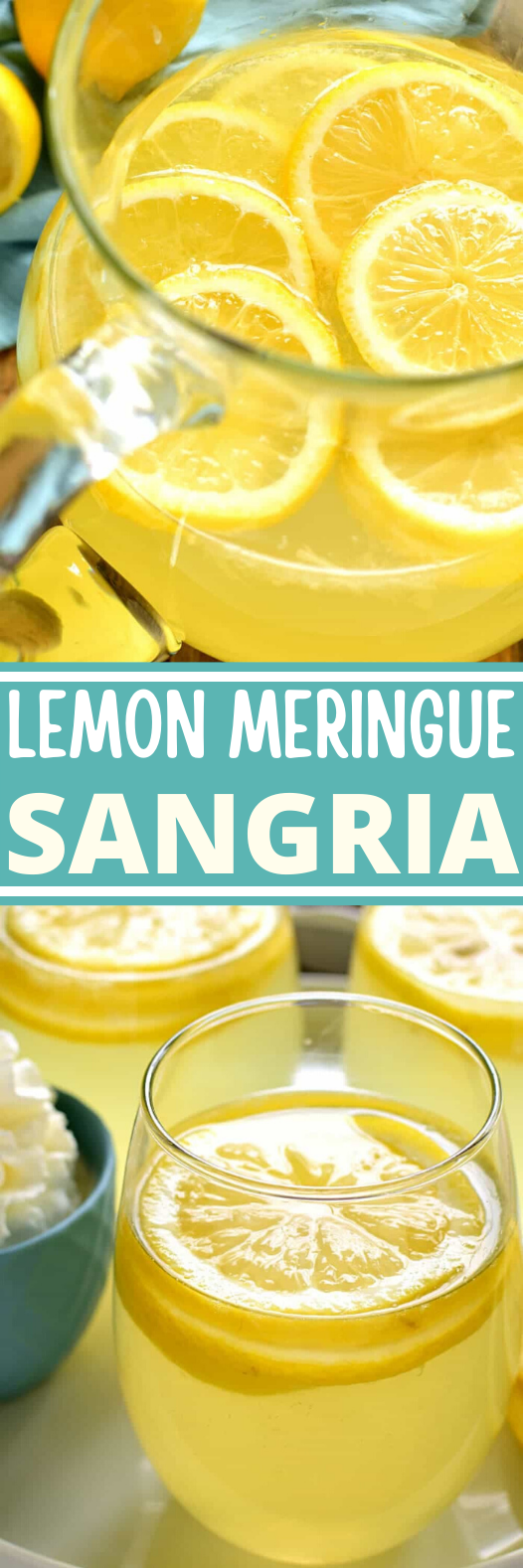 Lemon Meringue Sangria #summer #drink #recipes #brunch #sangria