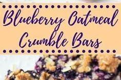 #Blueberry #Oatmeal #Crumble #Bars