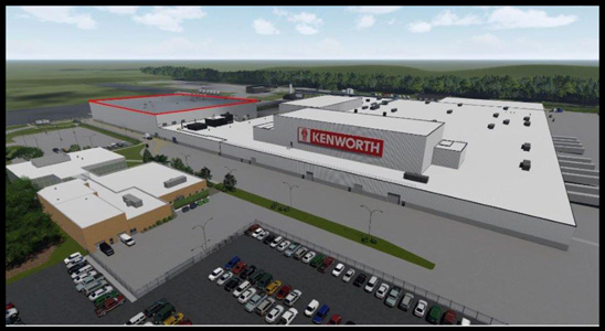 Kenworth Chillicothe Plant Expansion Rendering