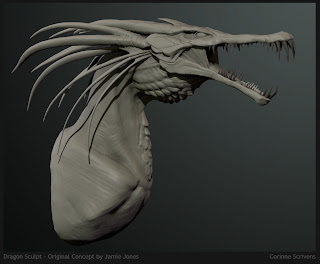 Dragon Speed Sculpt by Corinne Scrivens from concept by Jamie Jones