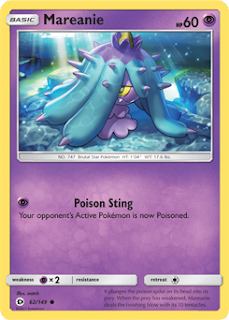Mareanie Sun and Moon Pokemon Card