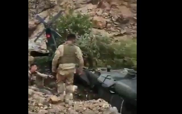 Τούρκικο ελικόπτερο Skorsky καταρρίφθηκε από τους αντάρτες του PKK (ΒΙΝΤΕΟ)
