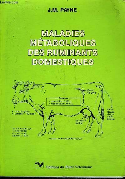 Maladies métaboliques des ruminants domestiques - WWW.VETBOKSTORE.COM