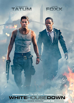 Poster Of White House Down (2013) In Hindi English Dual Audio 300MB Compressed Small Size Pc Movie Free Download Only At worldfree4u.com