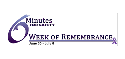 6 minutes for security - Week of Remembrance logo