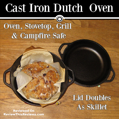 Cast Iron Dutch Oven and Lid Skillet