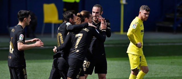 ملخص واهداف مباراة برشلونة وفياريال (2-1) الدوري الاسباني