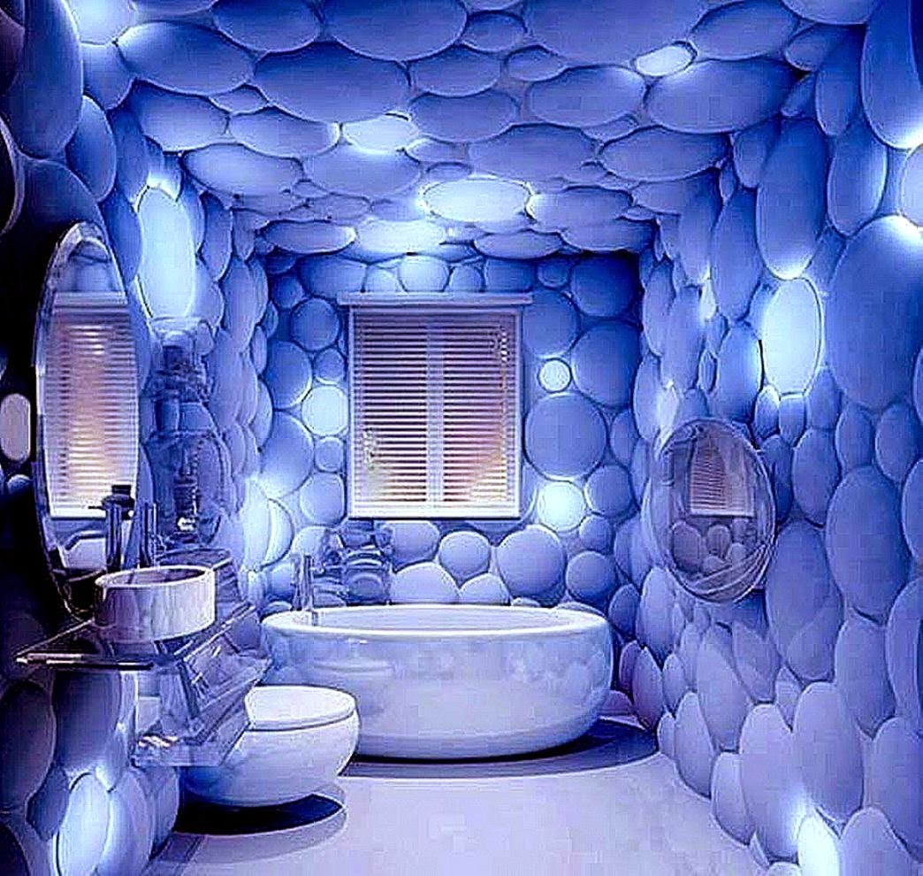 Designer Wallpaper Ideas Photos: Bathroom Wallpaper Designs