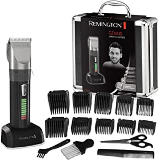 Remington HC5810 Coffret Cheveux, Tondeuse Cheveux, 10 Sabots, Lames Auto-Affûtées Céramique Avancée, Moteur Pro Puissant, Charge Rapide, Autonomie