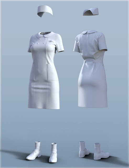 H/C Nurse Uniform for Genesis 3 Female