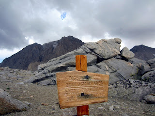 Bighorn Sheep Closure Sign and Mt. Williamson in the background.
