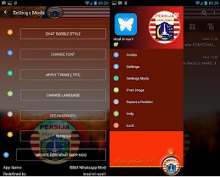 BBM Mod Persija base BBM Whatsapp v3.0.1.25 Apk
