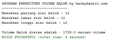 Menghitung volume balok