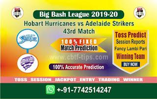 cricket prediction 100 win tips Hobart vs Adelaide