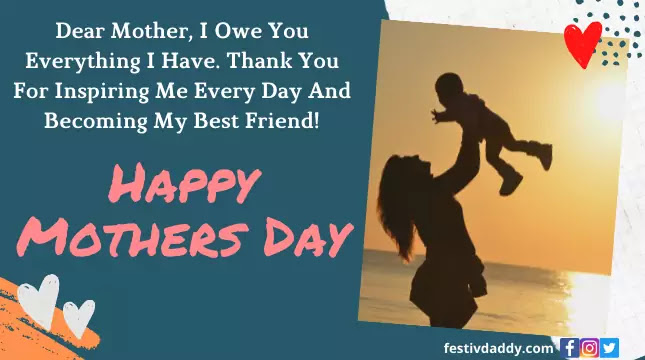 Happy Mothers Day Wishes Messages Greeting From Daughter Son