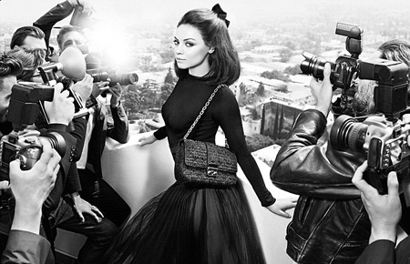 58517e381597 Also, we loved Mila Kunis  second take for Dior - shot by Mario Sorenti, in  black and white, so close to perfection.