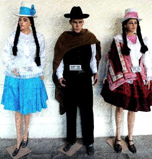 Roupas Típicas dos Habitantes de Cusco, no Museo de Arte Comtemporaneo de Cusco