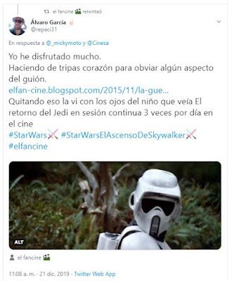 Star Wars - Episodio IX - El ascenso de Skywalker - el fancine - Cine Fantástico - ÁlvaroGP - Álvaro García - el troblogdita - Marketing de contenidos - Content Manager - Pelis para MIBers - @repaci31 - @elfancine - twitter