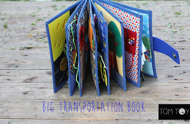 Transportation quiet busy book Развивающая книжка транспорт