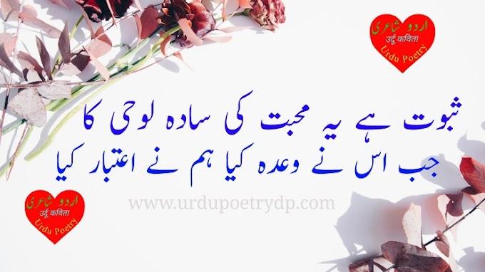 Sad Poetry Status In Urdu