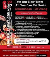 Open Recruitment at Resto Gogogi Korean Grill Surabaya Agustus 2020