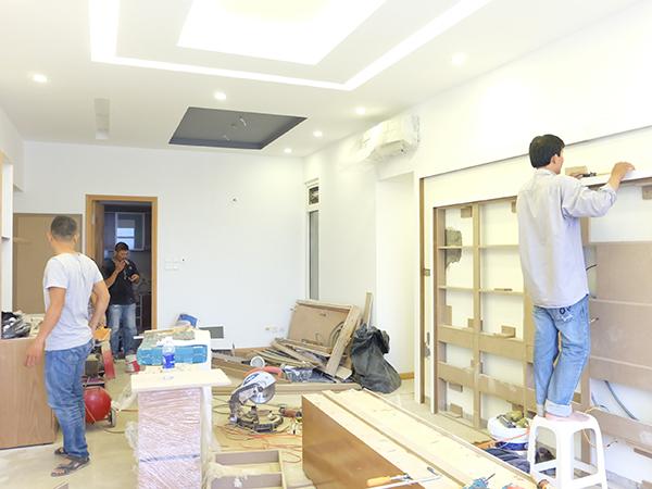 Sơn sửa lại căn hộ chung cư tại quận 4