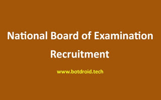 NBE Recruitment 2020, National Board of Examinations Recruitment 2020 | 12th Pass Govt Jobs 2020