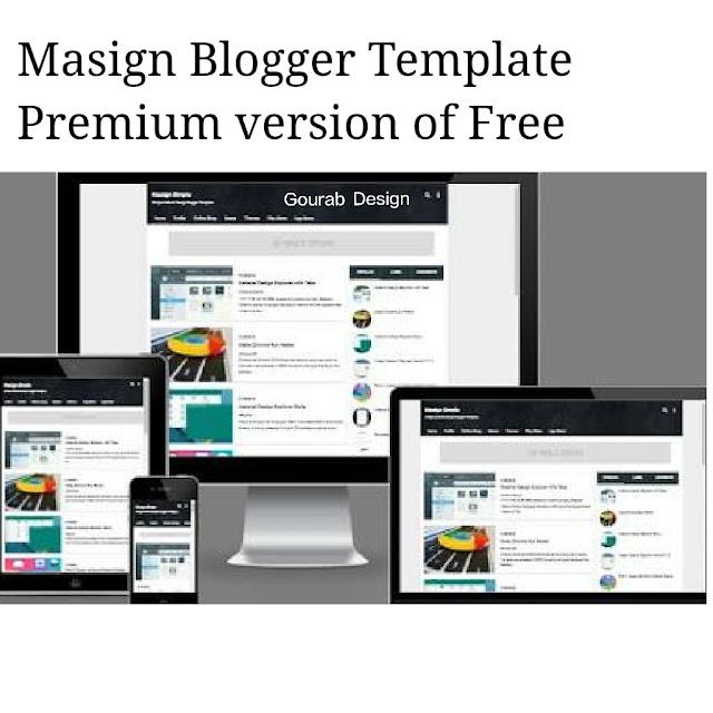 Masign blogger template