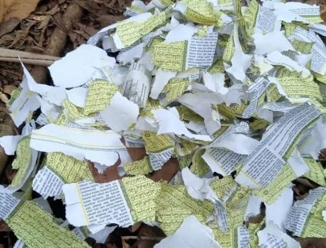 Heboh! Lembaran Al-Qur'an Dijadikan Lapisan Petasan