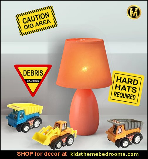 construction bedroom lighting table lamp construction bedroom decor construction trucks toys