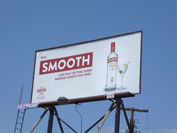 Smirnoff smooth parking tickets billboard
