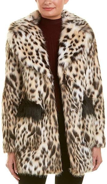 Leopard Plus Size Faux Fur Coats Jackets