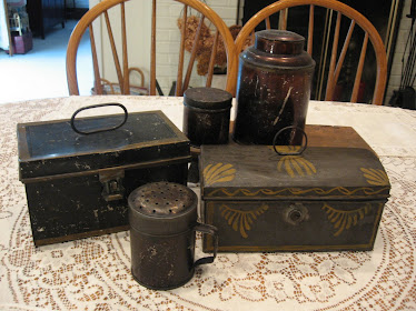 Antique Toleware and Painted Tin