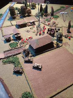 The village falls to the Japanese