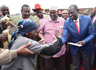 William Ruto in Nyandarua. PHOTO | Courtesy