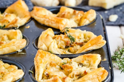 Creamy Parmesan Mushroom Cup Appetizers