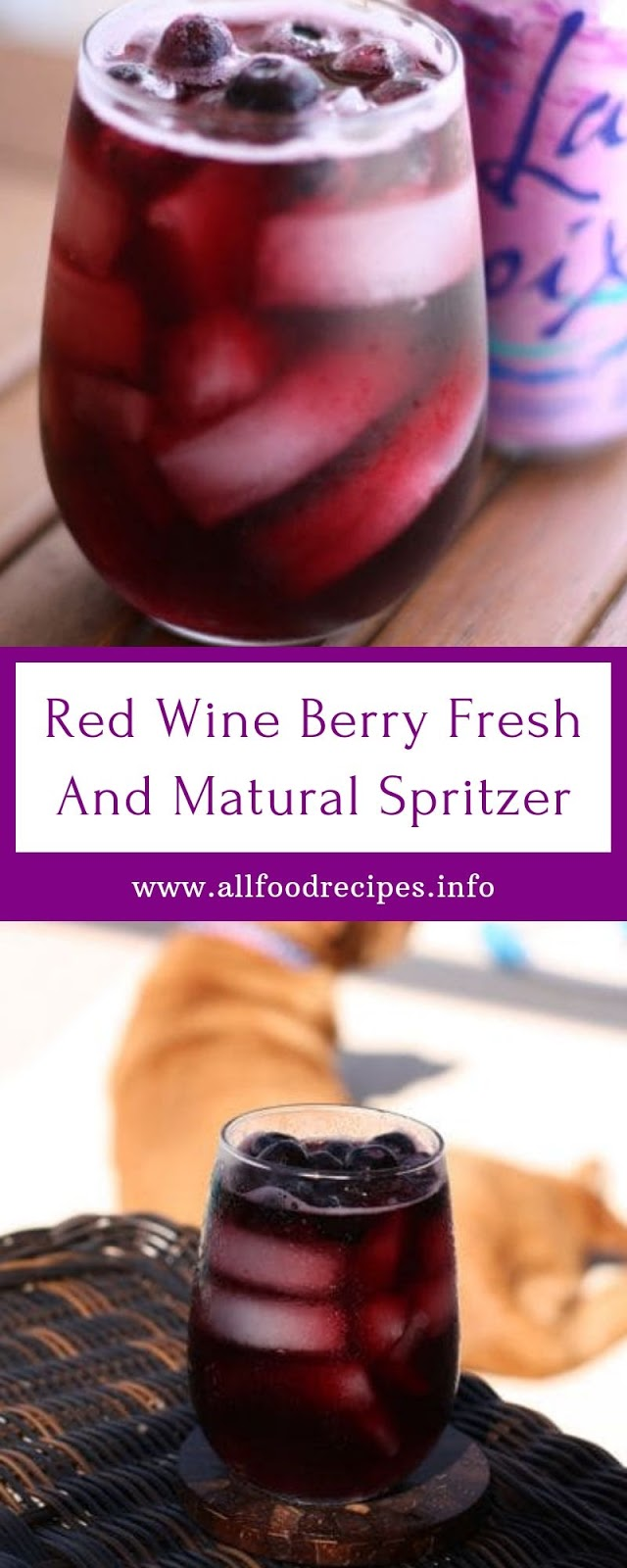Red Wine Berry Fresh And Matural Spritzer